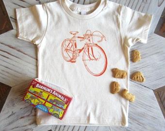 Kids Tshirt - Organic Cotton Toddler Shirt - American Apparel Kids Shirt - Screenprint Tshirt - Bicycle - Toddler Tee - Kids Clothes - Bike