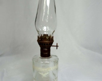 Clear Glass with white eagles Hurricane Oil Lamp Home and Garden Lighting Lamps Table Lamps Hurricanes