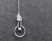 Light Bulb Necklace - Geekery, Unusual Jewelry, Made to Order - 'Light Bulb'