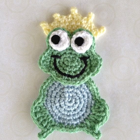Frog Crochet PATTERN Prince Charming Applique Instant