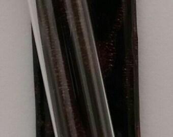 Chocolate Brown Dichroic Glass Mezuzah - Mezuzah for the Door