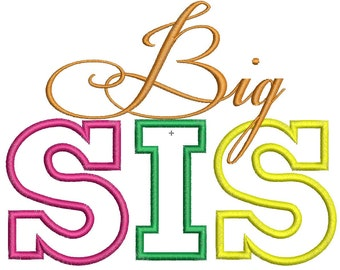Big Sis- Lil Sis Embroidery Designs -INSTANT DOWNLOAD-