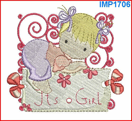 Baby girl embroidery designs