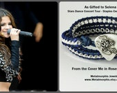 Rose Coverd Guitar Pick Wrap Bracelet Made to Order