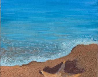 Starfish -  Acrylic Seascape Painting