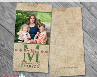 Rustic Christmas SlimLine 4x8 Greeting Card No 2- custom photo templates for photographers on Pro Digital Photos and MPixPro Specs