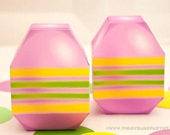 Easter Egg Favor Box - Lavender : DIY Printable Easter Gift PDF - Instant Download