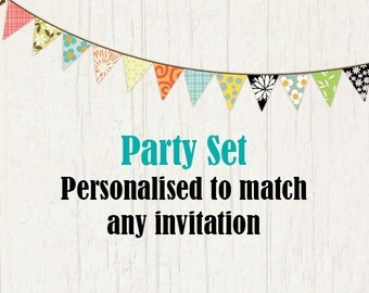 Personalised party set or Custom Invitation