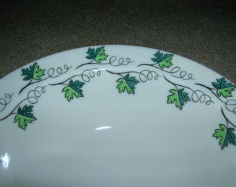 4 Vintage Syracuse China Restaurant Ware Cereal Soup Bowls Green Concord Pattern Circa 1968 Excellent Never Used