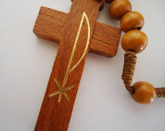 The Fatima Wooden Rosary. 70s.