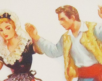 Spanish Folk Dance Postcard. 40s