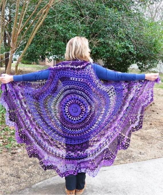Bohemian Vest crochet shawl Stevie Nicks style. Ready to Ship