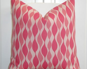 DOUBLE SIDED Or Pattern on the Front Only - Decorative Pillow Cover - Geometric - Pink - Sofa Pillow