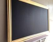 Extra Large CHALKBOARD Modern Blackboard for sale Decorative Chalkboard Long Kitchen Chalkboard Chalk Board Metallic Gold - MORE COLORS