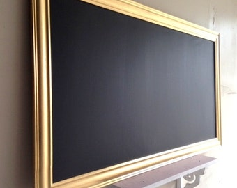 Extra Large CHALKBOARD Modern Blackboard for sale Decorative Chalkboard Long Kitchen Chalkboard Chalk Board Metallic Gold - MORE COLORS