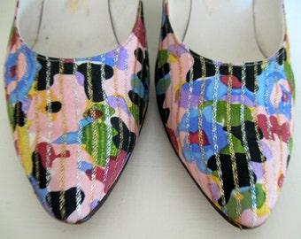 Vintage Pumps Jocelli Womens Shoes 1950s 1960s 8A