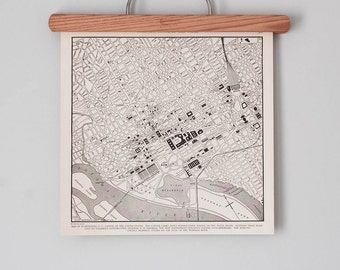 Washington D.C. 1930s Map | Antique District of Columbia City Map | U.S. Capitol