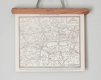 London 1930s Map | Antique London. England City Map