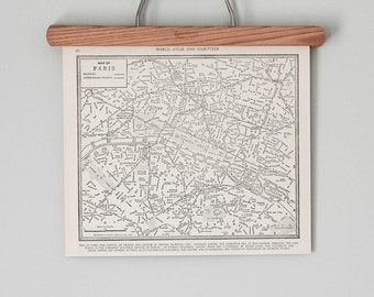 Paris 1930s Map | Antique Paris, France City Map