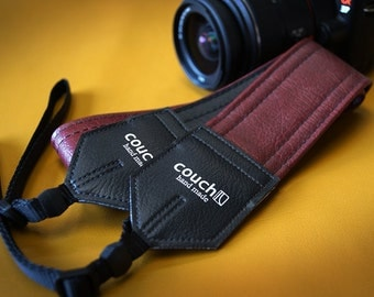 Brick Red Luggage Camera Strap, Double Stitched