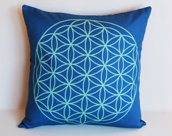 Geometric decorative pillow cover, cushion cover, eco friendly organic cotton throw cushion 16x16 geo print 03
