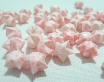 50 Pretty Pink Vellum Glow in Dark Origami Lucky Stars