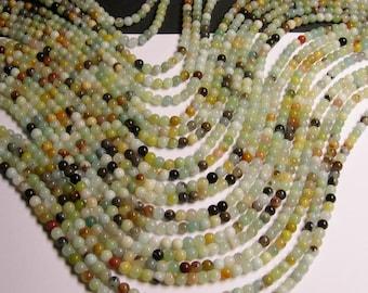 Amazonite - 4mm round beads -1 full strand - 97 beads -