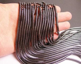 Hematite - 4mm heishi beads - full strand -195 beads - AA quality - CHG6