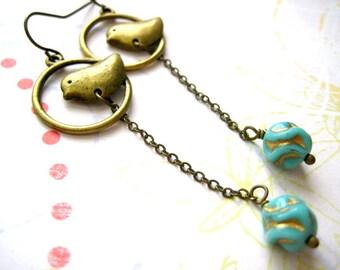 Bird Earring, Bird Dangle Earrings, Everyday Jewelry, Babay Bird Earrings