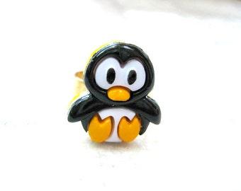 Penguins Ring,Fun Ring, Teen Jewelry