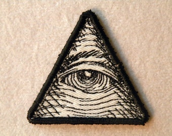 "Eye of Providence Iron on Patch- small 2""."