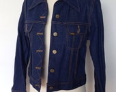 Vintage 1970s Lady Lee Denim Jacket Size Small