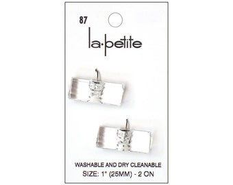 "La Petite Buttons 1"" Crystal Toggle Fashion Sewing Clothing Button La-Petite LaPetite"