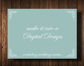 DIY Digital Design Save the Date Postcard, Birthday Invitation, Bridal Shower Invitation, Baby Announcement, Baby Shower