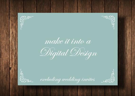 DIY Digital Design Save the Date Postcard, Birthday Invitation, Bridal Shower Invitation, Baby Announcement, Baby Shower