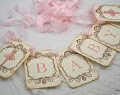 Ballerina Banner Garland Pink Garland Baby Shower Decoration Photo Prop