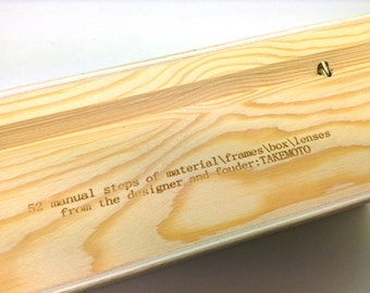 New Wood Box For Takemoto Handmade Glasses Sunglasses Or As A Link Of 1.56 Index  Prescription