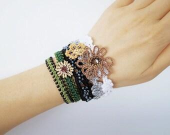 Crochet Lace Jewelry (Boho Chi I-c) Crochet Bracelet,Wide Bracelet