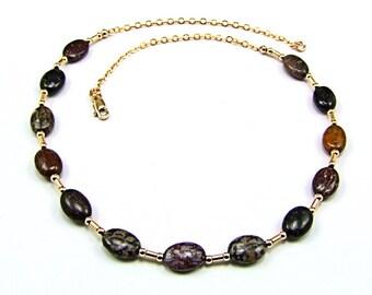 Ultra Rare Utah Dinosaur Bone Beads Necklace - N696