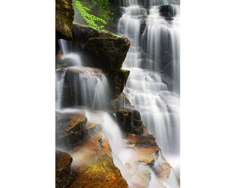 Waterfall Photography Soco Falls, Cherokee, NC - Fine art photograph - Blue Ridge Parkway, Spring, Appalachian Mountains