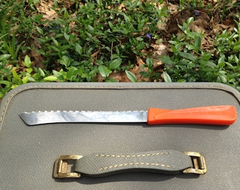 P.A.S Frauenlob Solingen Germany Stainless Rostfrei Orange Serrated Knife
