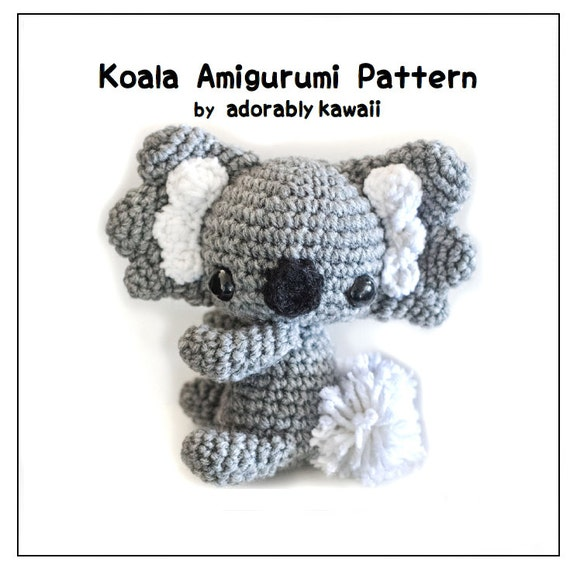 Crochet Pattern Koala Bear : Koala Amigurumi Crochet Pattern Koala Bear Doll Nursery Toy