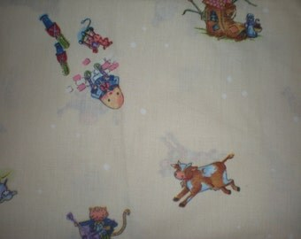 Nursery Rhyme  Theme - Quilting, sewing cotton  fabric