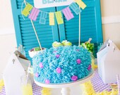 INSTANT DOWNLOAD - Monsters Inc Inspired Cake Bunting - Petite Party Studio