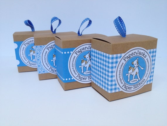 Blue Paper Ribbon in Pattern of Your Choice