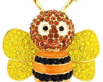 Black And Yellow Bee Pin Brooch 1011303