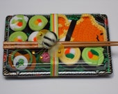 Baby Gifts - Baby Shower Neutral Gift - Washcloth Sushi - FREE PACIFIER INCLUDED