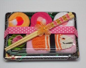 New Baby Girl Gift - Orange Tawashi Fish