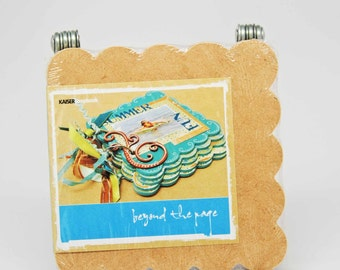 SALE KaiserCraft Wood Scallop Mini Album  -- Unfinished -- Beyond the Page Do It Yourself