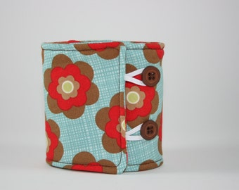 Floral Brown and Red Moda Boho Can Cozy Sleeve